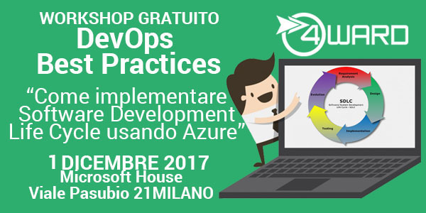 Workshop gratuito: Come implementare Software Development Life Cycle usando Azure