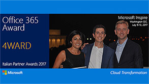 4ward awarded Cloud Transformation Office 365 partner of the Year