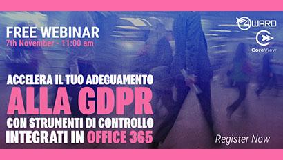 Webinar: Accelera il tuo adeguamento alla GDPR con strumenti di controllo integrati in Office 365