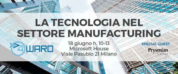 La tecnologia nel settore manufacturing