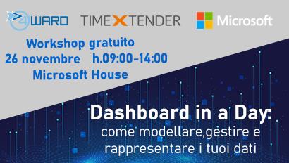 Dashboard in a Day: come modellare, gestire e rappresentare i tuoi dati