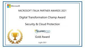 Secuirty & Cloud Protection Gold Award 2021