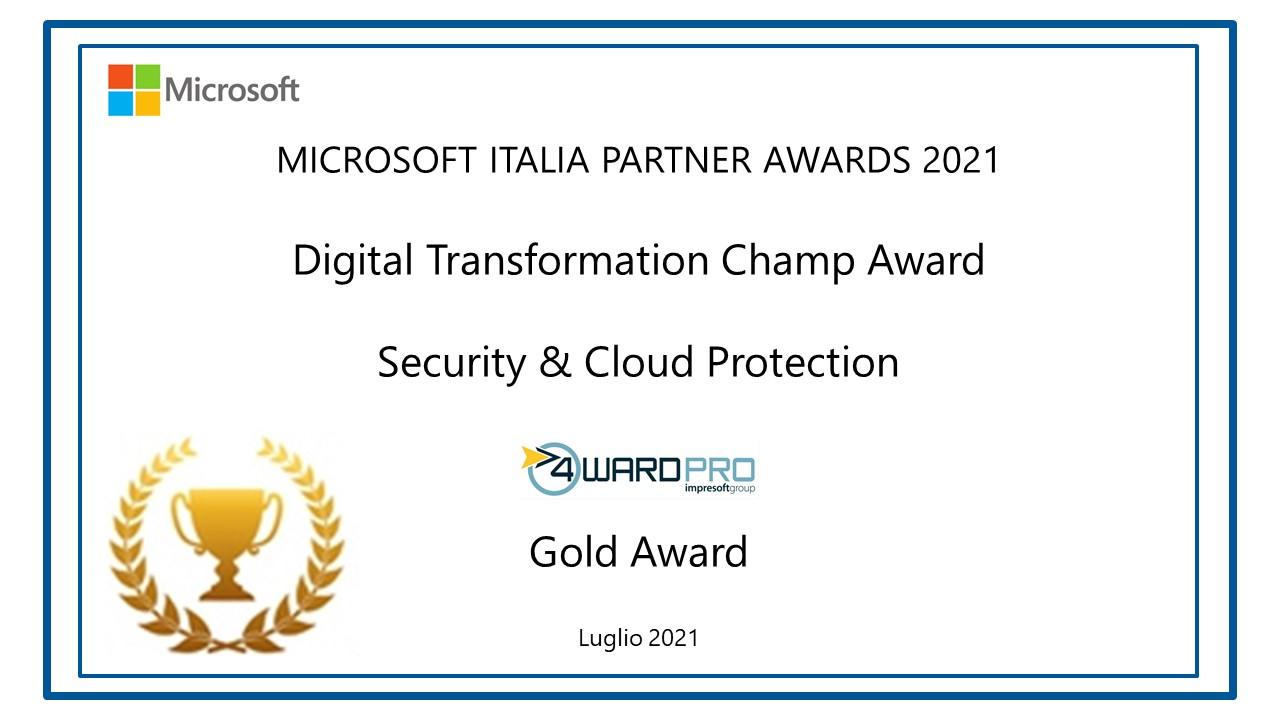 Microsoft Security & Cloud Protection Gold Award 2021
