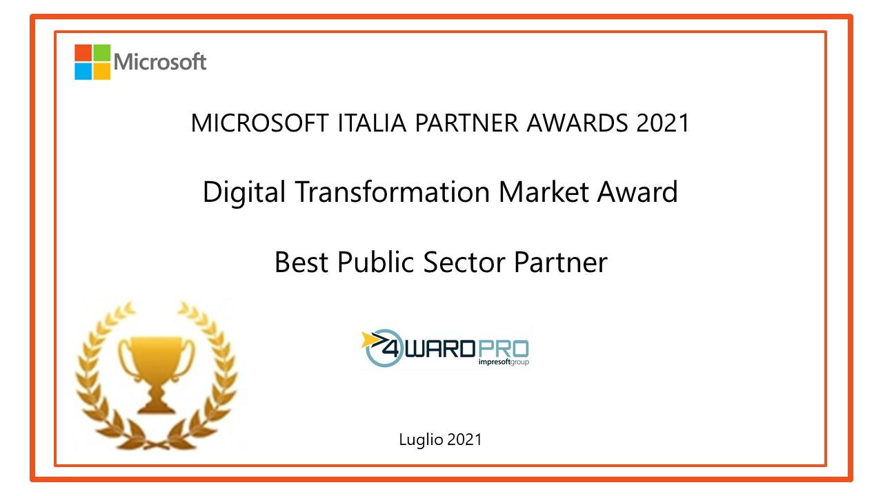 Microsoft Best Public Sector Partner Award 2021